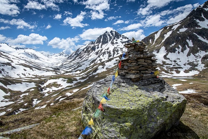 Gebetsfahne, Graubünden, Piz Alv, Piz Nair, Piz Tagliola, Porggeren Stock