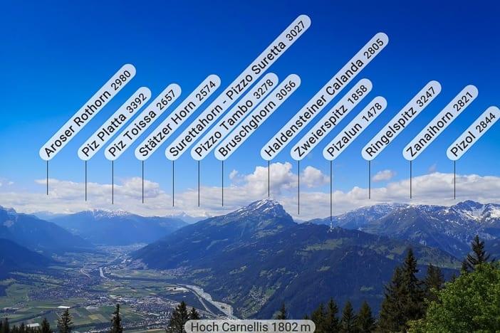 Aussicht, Bündner Herrschaft, Haldensteiner Calanda, Malanser Älpli, Panorama, Rheintal, Route des Staunens, Wanderung, wandern