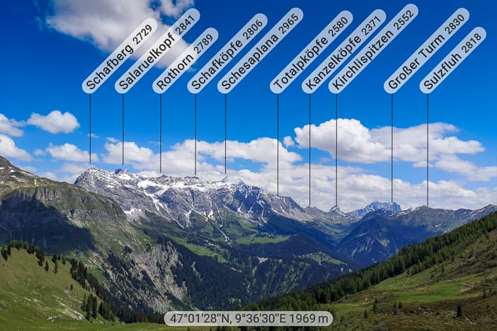 Alpenpanorama Malanser Älpli