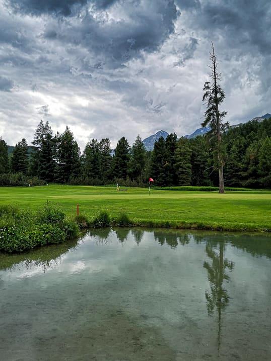 Green 5 von Golf Samedan