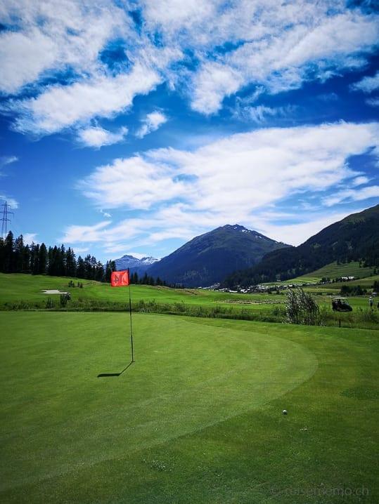 Green 14 von Golf Zuoz-Madulain