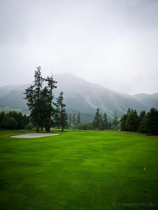 Golfplatz Samedan im Regen