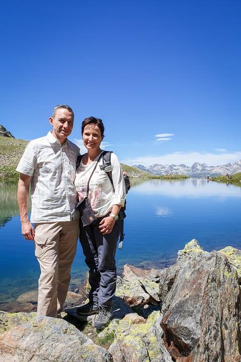 Katja und Walter beim Lej Languard