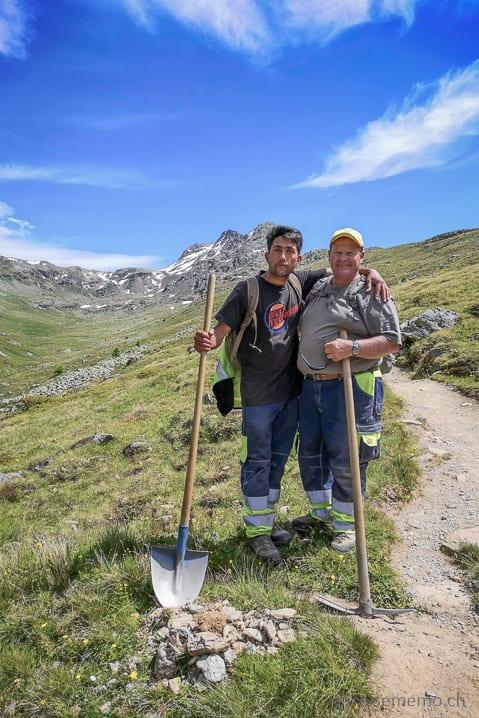 Shafi und Paolo vom Werkdienst Pontresina
