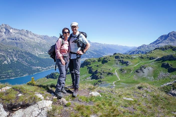 Katja und Walter im Oberengadin