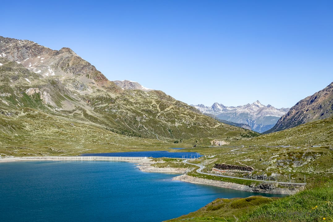Lago Bianco beim Bernina Hospiz