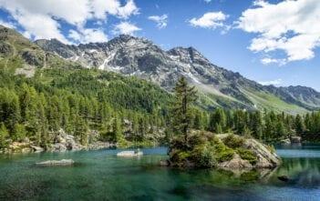 Lago di Saoseo mit Cima di Ruggiolo und Punta del Teo