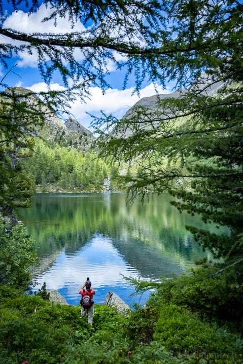 Alex am Lago di Val Viola