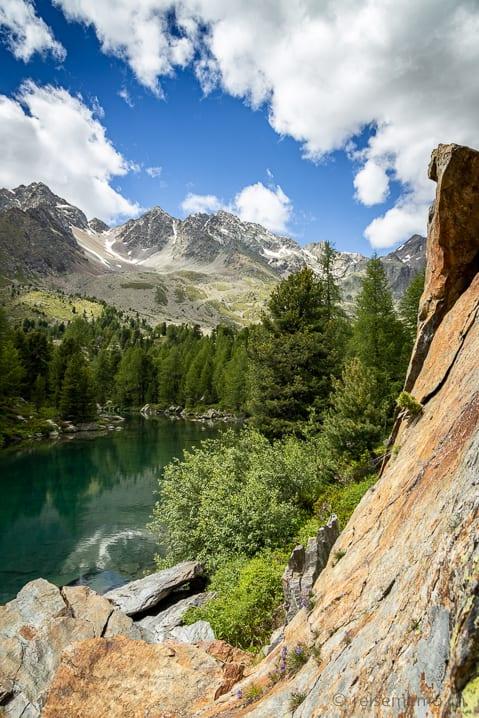 Fels im Lago di Val Viola