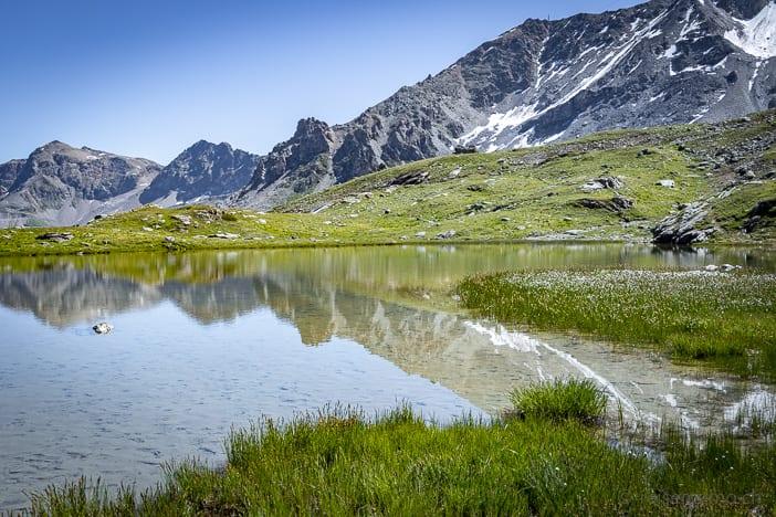 Bergsee Lejin Cristal - Furtschellas 6-Seen Wanderung