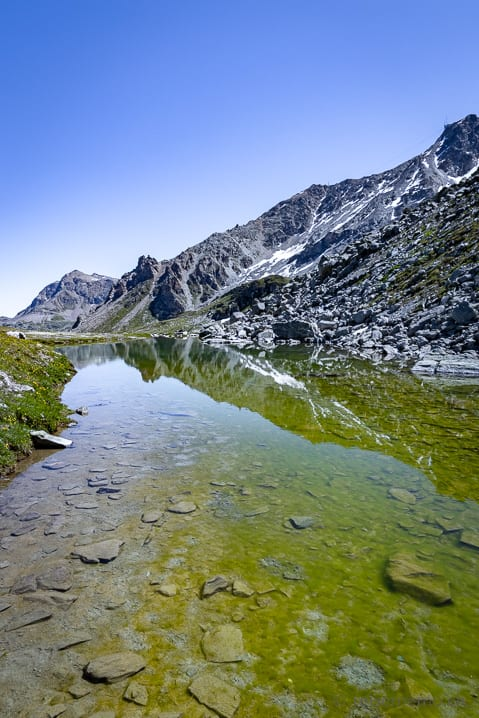 Bergsee Lejin Magnetit - Furtschellas 6-Seen Wanderung