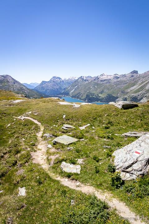 Wanderweg im Oberengadin