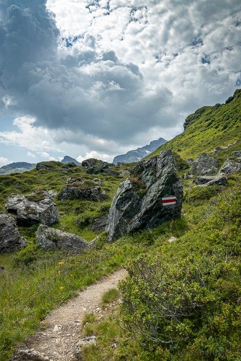 Wanderweg in Richtung Leglerhütte