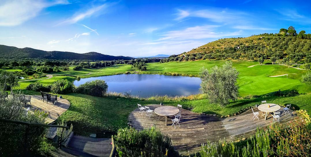 Panorama Ausblick vom Argentario Golf Clubhaus