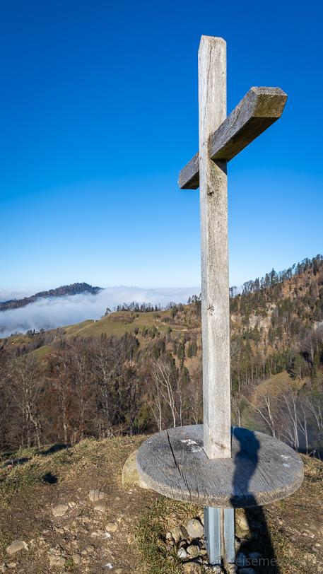 Gipfelkreuz auf der Hirzegg