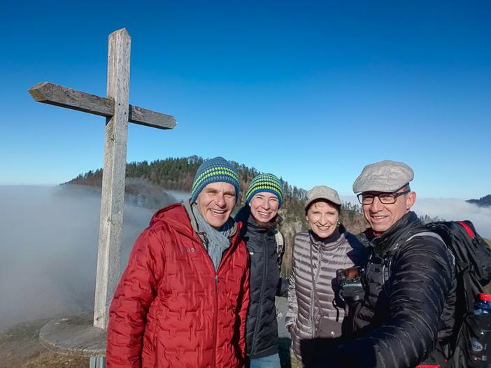 Marcel & Reni und Katja & Walter auf der Hirzegg