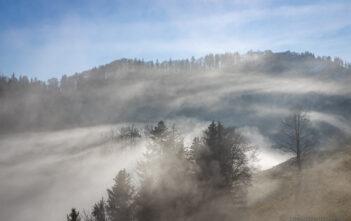 Nebelschwaden bei der Hirzegg
