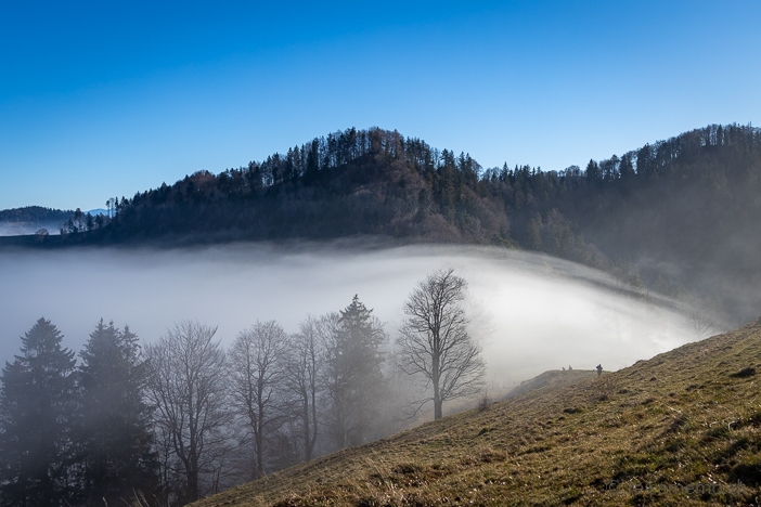 Nebelwalze bei der Hirzegg