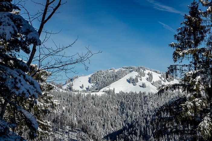 Schnebelhorn vom Hessenweg der Alp Scheidegg aus