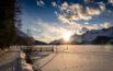 Anlegestelle Maria Barchiröls im Sonnenuntergang
