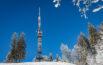 UKW-Sendeturm auf dem verschneiten Bachtel