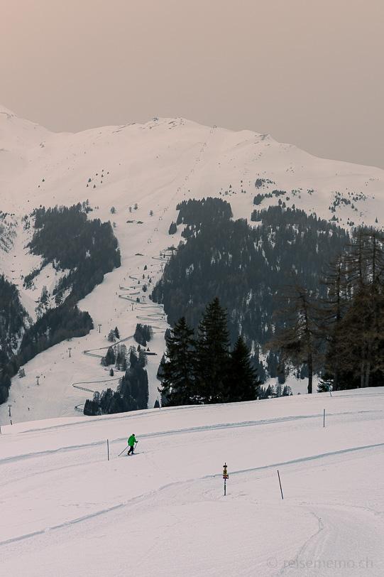 Langläufer auf dem Mittelberg oberhalb Parpan