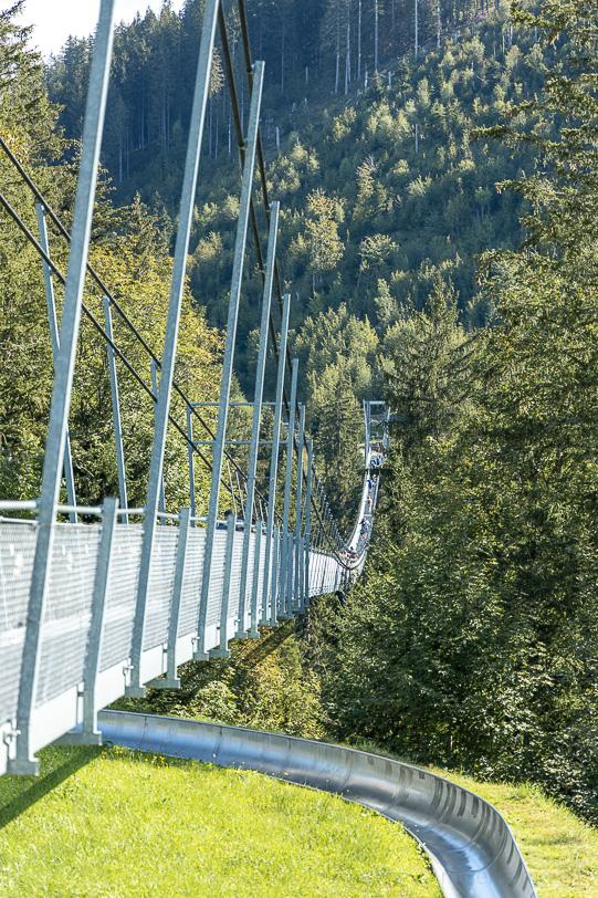 Hängebrücke Raiffeisen Skywalk und Rodelbahn bei Mostel