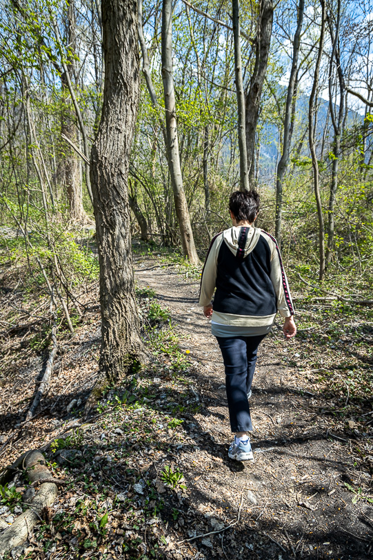 Katja wandert in Selfirüfi