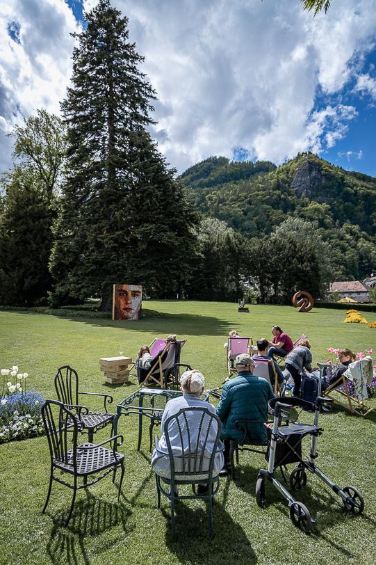 Pause im Pop-up Restaurant im Garten des Grand Resort Bad Ragaz