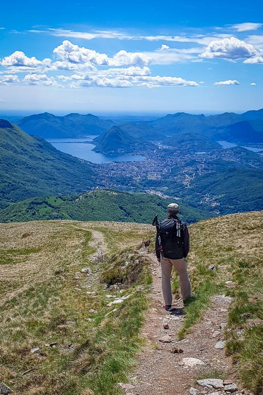 Aussicht vom Monte Bar auf Lugano und San Salvatore