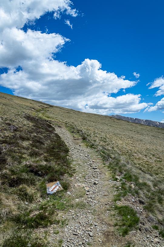 Wanderweg unterhalb der Capanna Monte Bar