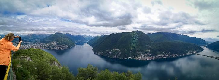 Aussicht vom San Salvatore auf den Luganersee