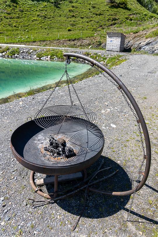 Grillstelle am Wasserreservoir