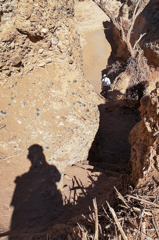 Walter vor dem Abstieg mit Guide in den Sesriem Canyon