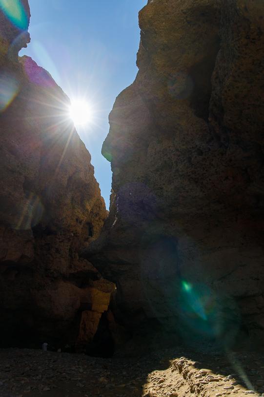 Sesriem Canyon um die Mittagszeit