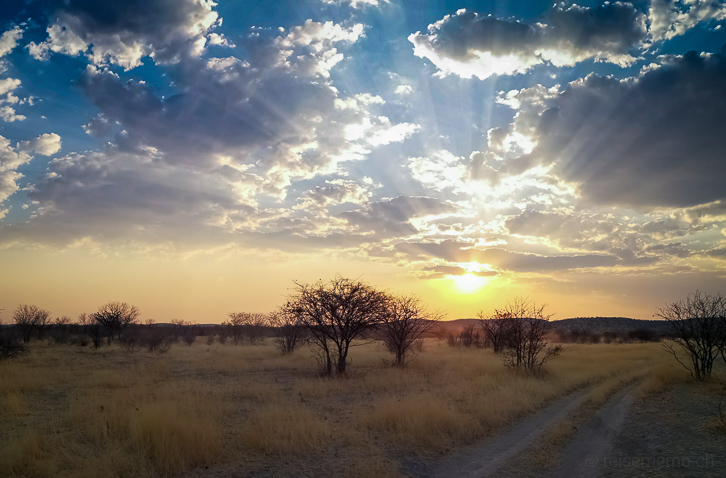 Sonnenuntergang im Ongava Private Game Reserve